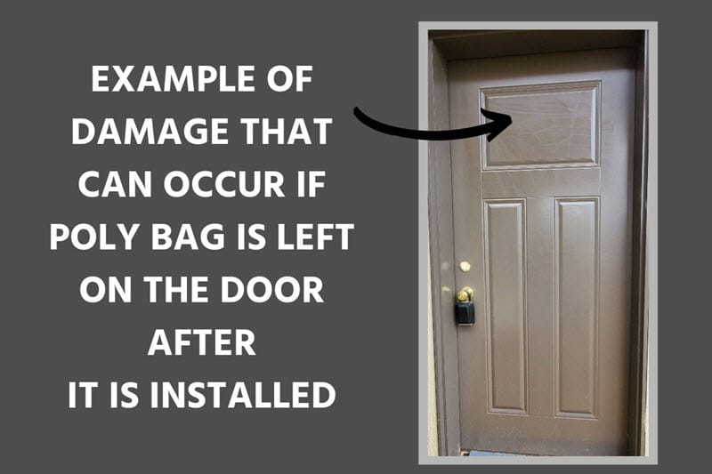 Protecting Exterior Doors After Installation